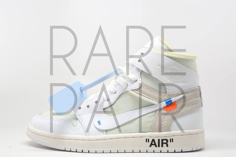 "Air Jordan 1 x Off-White NRG ""Off-White : White"" - Rare Pair"