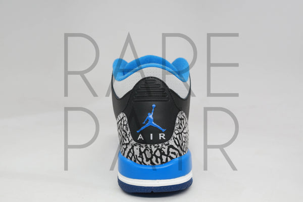 "Air Jordan 3 Retro BG ""Sport Blue"" - Rare Pair"