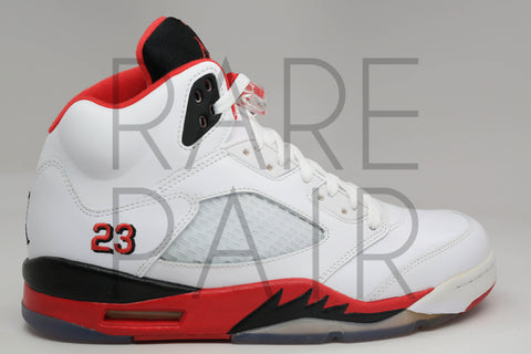 "Air Jordan 5 Retro ""2013 Fire Red: Black Tongue"" - Rare Pair"