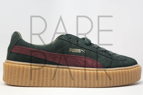 "Suede Creepers ""Fenty by Rihanna: Green/Bordeaux"""
