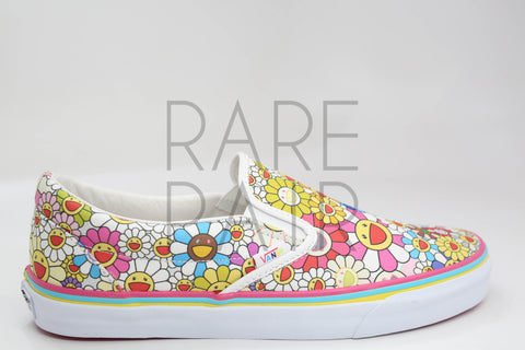 "Classic Slip-On LX ""Takashi Murakami: (Flower) Multi"" - Rare Pair"