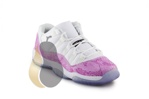 "Air Jordan 11 Retro GS""Pink Snakeskin Low"" - Rare Pair"