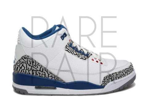 "Air Jordan 3 Retro ""2011 True Blue"" - Rare Pair"