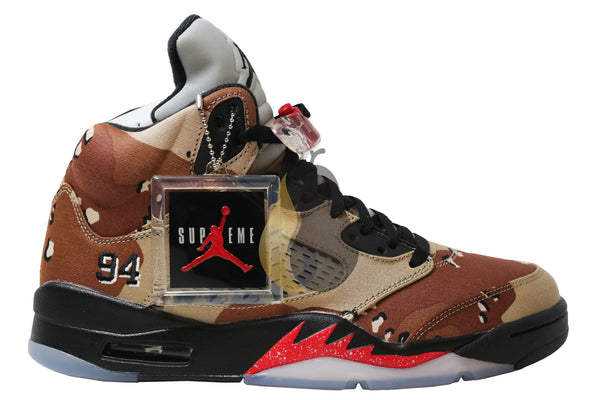 "Air Jordan 5 Retro Supreme ""Camo"" - Rare Pair"