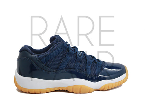 "Air Jordan 11 Retro Low BG ""Navy/Gum"" - Rare Pair"