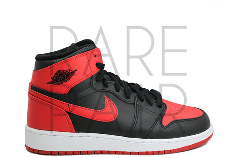 "Air Jordan 1 Retro High BG ""2016 Bred/Banned"" - Rare Pair"