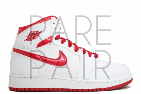 "Air Jordan 1 Retro High (GS) ""Do The Right Thing: White/Red"" - Rare Pair"