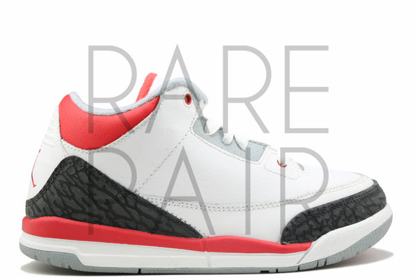 "Jordan 3 Retro (PS) ""2007 Fire Red"" - Rare Pair"