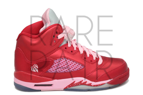 "Girls Air Jordan 5 Retro (GS) ""Valentine's Day"" - Rare Pair"