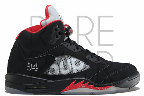 "Air Jordan 5 Retro Supreme ""Black"" - Rare Pair"