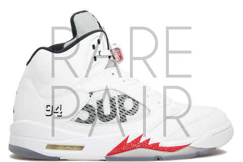 "Air Jordan 5 Retro Supreme ""White"" - Rare Pair"