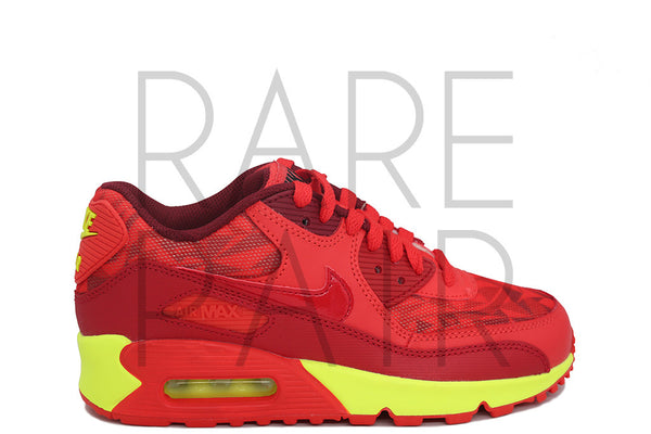 "Air Max 90 (GS) ""Ice Pack: Gym Red"" - Rare Pair"