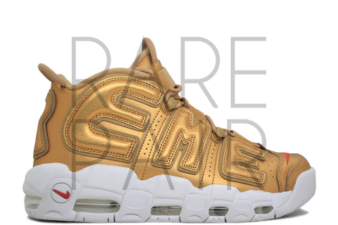 "Air More Uptempo ""Supreme: Metallic Gold"" - Rare Pair"