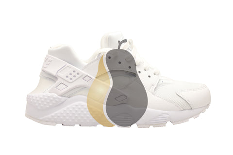 "Nike Huarache Run GS ""White/Plat"" - Rare Pair"