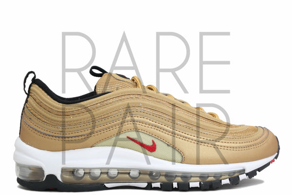 "Nike Air Max 97 QS (GS) ""2017 Metallic Gold"" - Rare Pair"