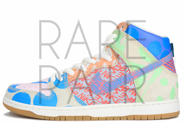 "Nike SB Zoom Dunk High Prem ""Thomas Campbell: What The"" - Rare Pair"