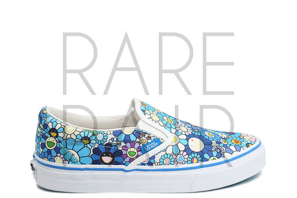 "Classic Slip-On LX ""Takashi Murakami: (Flower) Blue"" - Rare Pair"