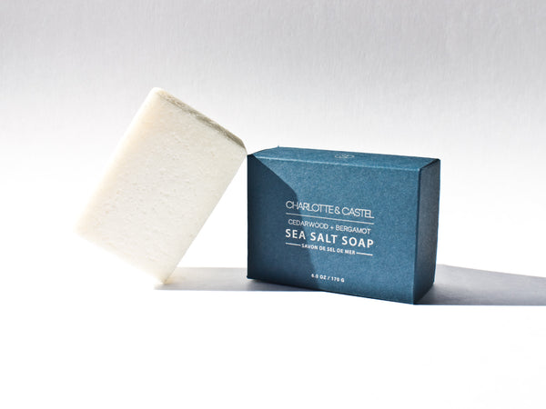 Sea Salt Soap | Cedarwood + Bergamot