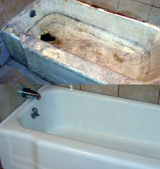 No-Spray Restoration.Never Spray a tub again!