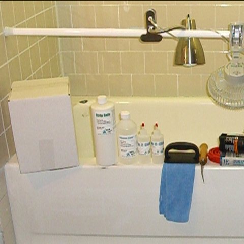 No-Spray Tub & Tile Kits, Complete kit to restore Fiberglass