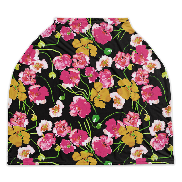 "Nursing Cover | Car Seat Cover - ""Poppies"""