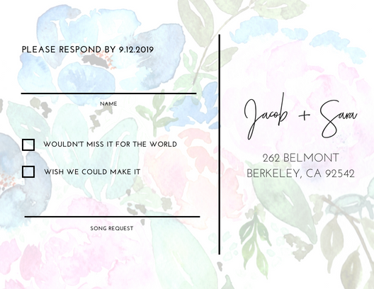 Custom Bridal Invitation Design Package (Deposit)