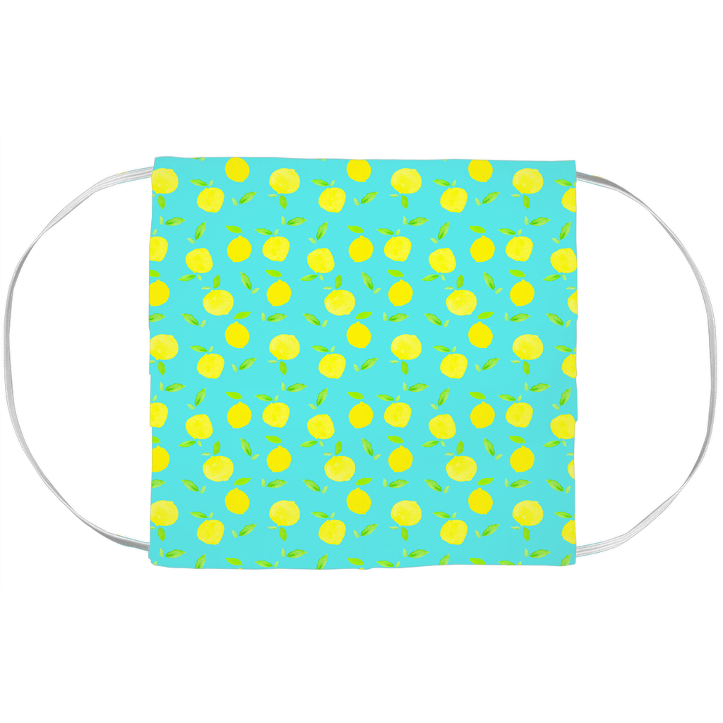 Face Mask Cover- LITTLE LEMON DROP ON MINT