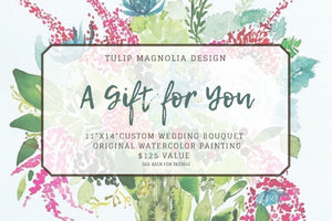 Custom Wedding Bouquet Gift Certificate (physical card)