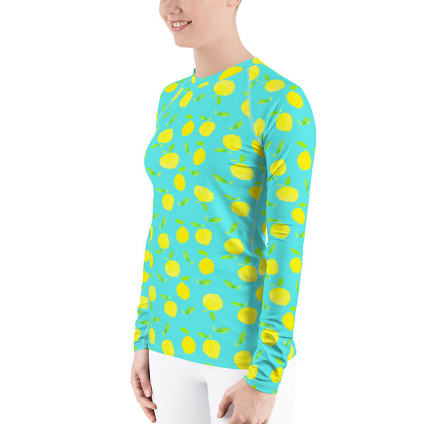 Women's Adventure Shirt- Lemons on Mint