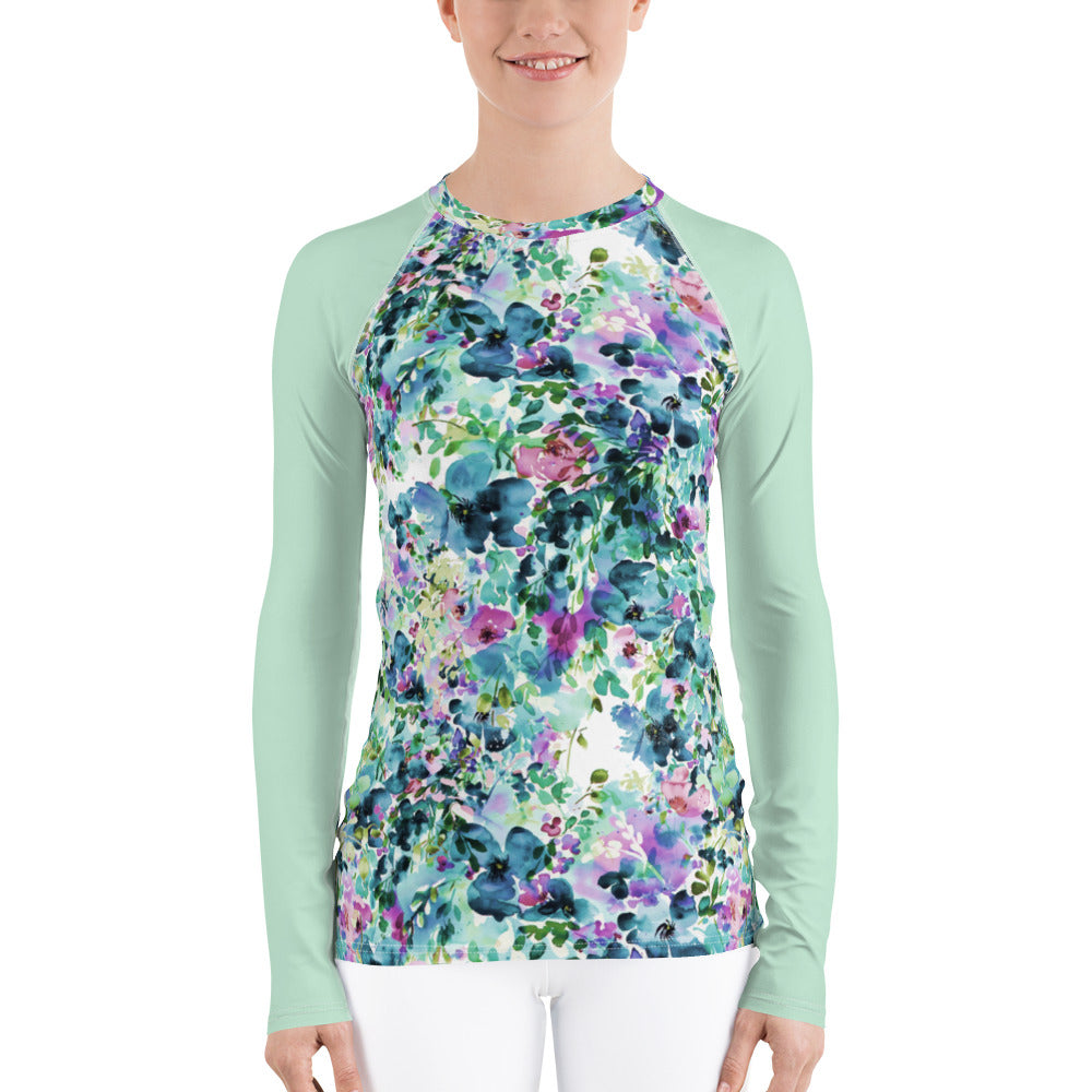 Women's Adventure Shirt- Anemone with Mint Sleeves
