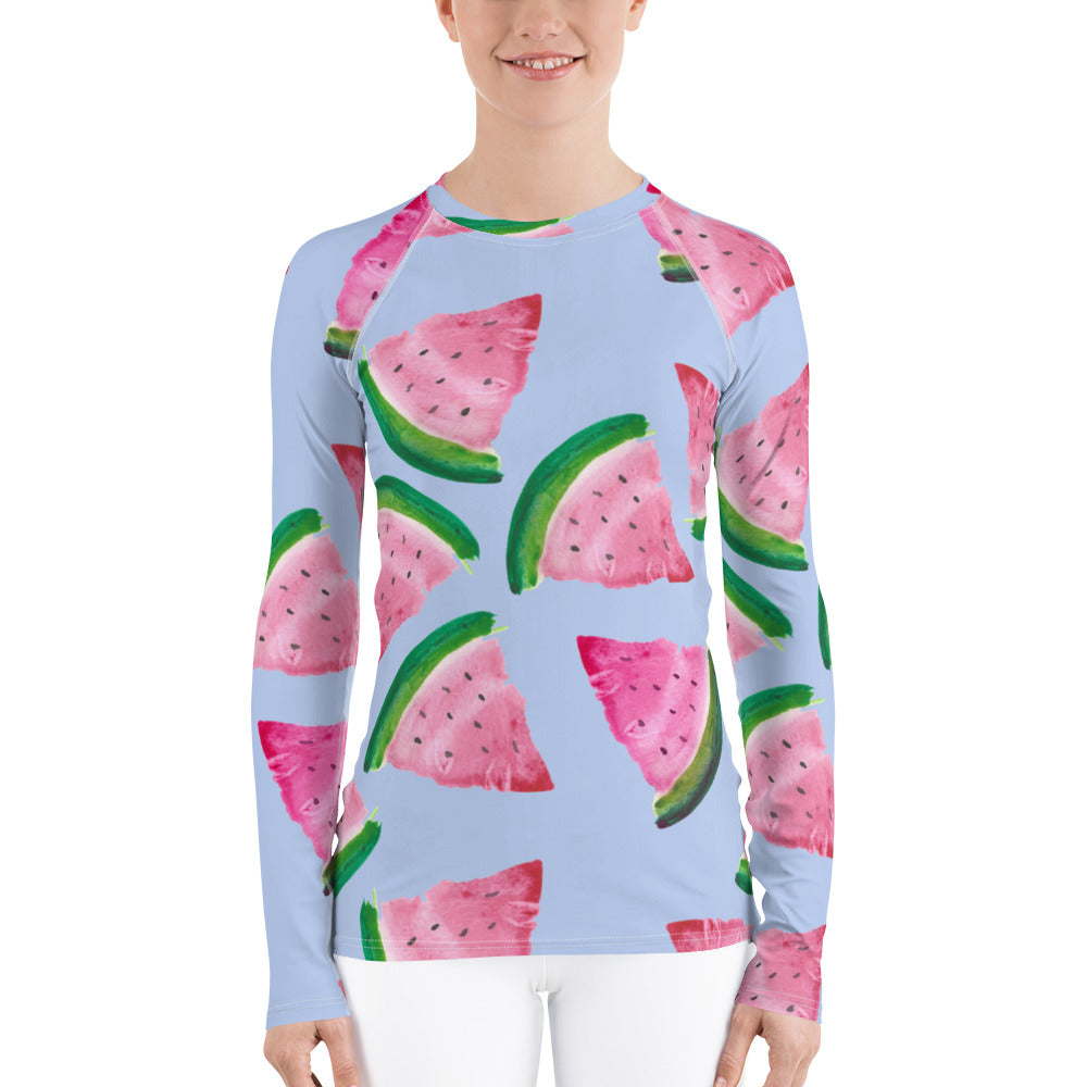 Women's Adventure Shirt- Watermelons on Lilac