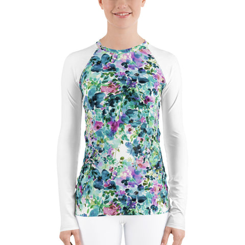 Women's Adventure Shirt- Anemone with White Sleeves