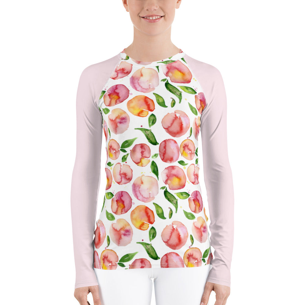 Women's Adventure Shirt- Peachy with Blush Sleeves