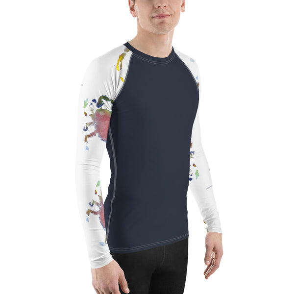 Men's Adventure Shirt- Navy with Crabby Sleeves
