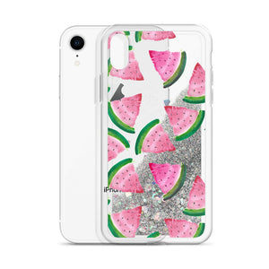"Liquid Glitter Phone Case- ""Watermelons"""