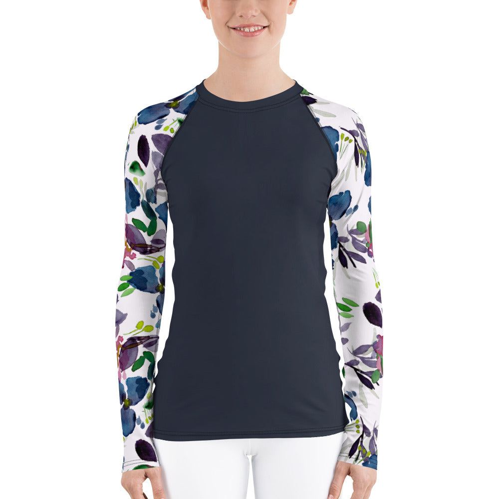 Women's Adventure Shirt- Navy with Terrarium