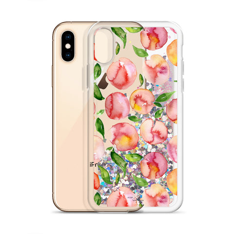 "Liquid Glitter Phone Case- ""Peachy"""