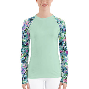 Women's Adventure Shirt- Mint with Anemone