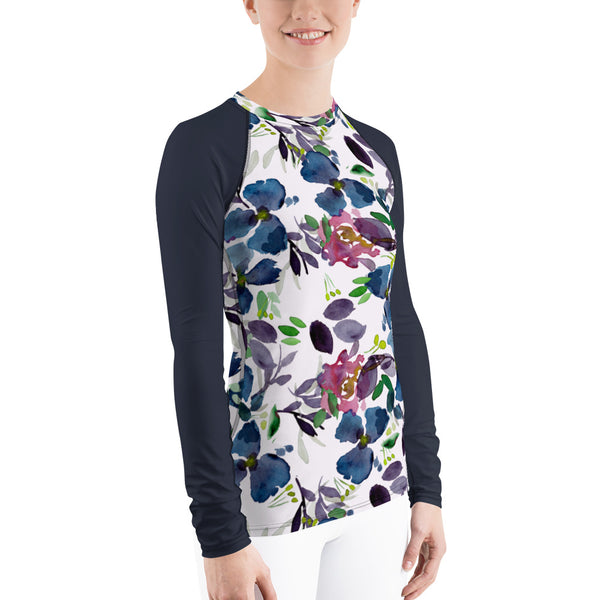 Women's Adventure Shirt- Terrarium with Navy Sleeves