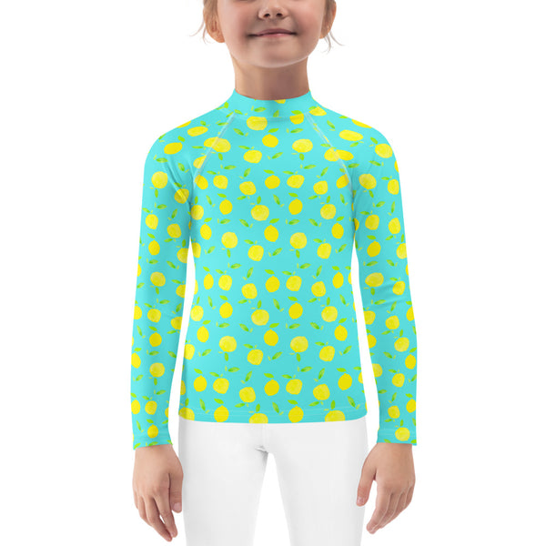 Kids Adventure Shirt- Lemons on Mint
