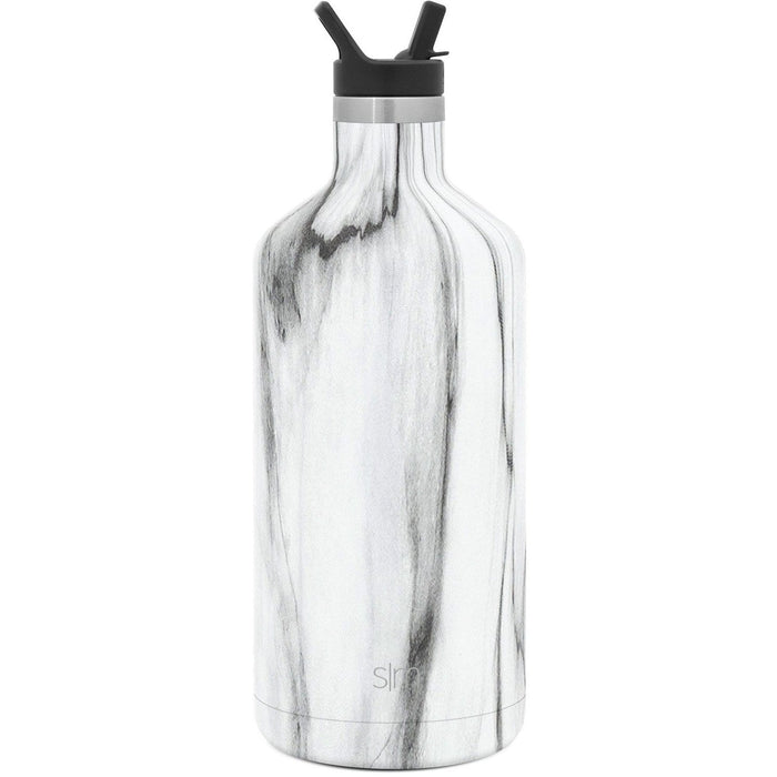 Carrara Marble Ascent Water Bottle Ascent Water Bottle with Straw Lid - 64oz