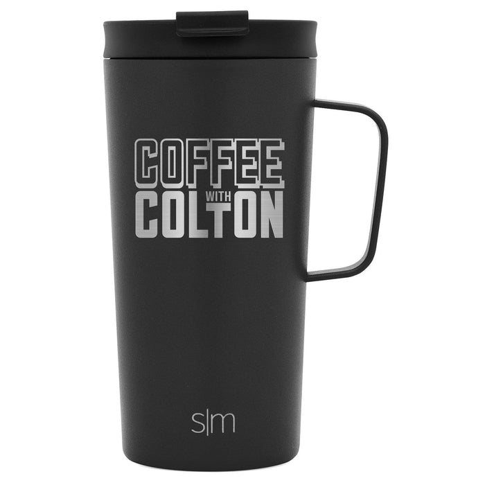 Midnight Black Scout Coffee Mug Coffee with Colton Scout Coffee Mug - 18oz