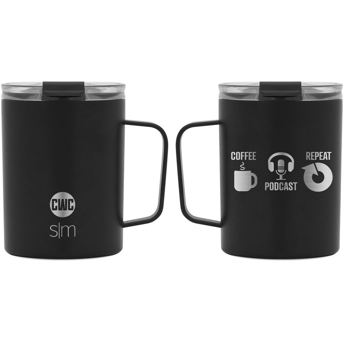"Coffee with Colton ""Coffee Podcast Repeat"" Scout Coffee Mug - 12oz"
