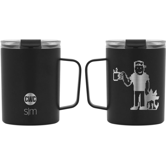 "Coffee with Colton ""Pixel Day"" Scout Coffee Mug with Clear Flip Lid - 12oz"