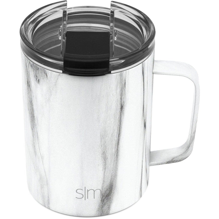 Carrara Marble Scout Coffee Mug Scout Coffee Mug with Clear Flip Lid - 12oz