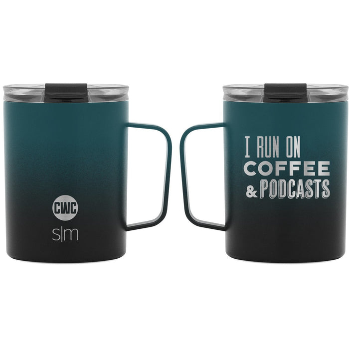 "Coffee with Colton ""I Run on Coffee & Podcast"" Scout Coffee Mug - 12oz"