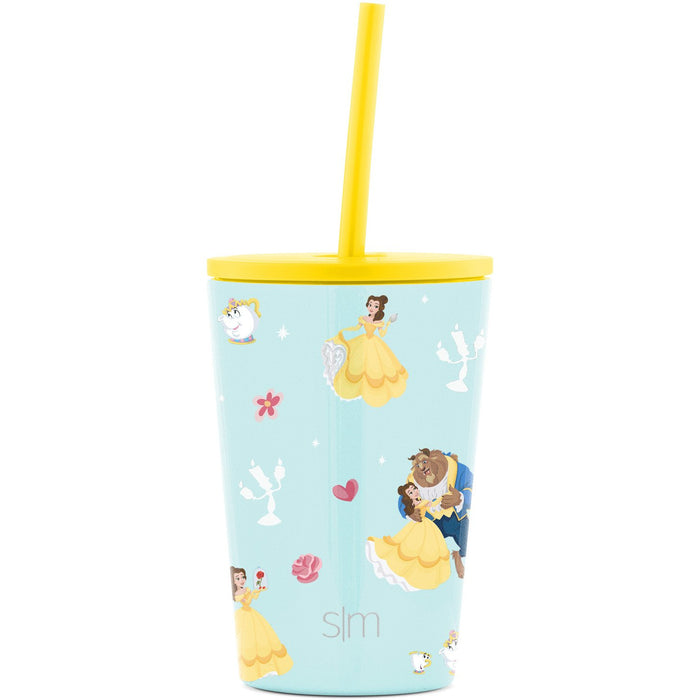 Disney Mickey Mouse Bandana Classic Tumbler Disney Kids Classic Tumbler with Lid and Silicone Straw - 12oz