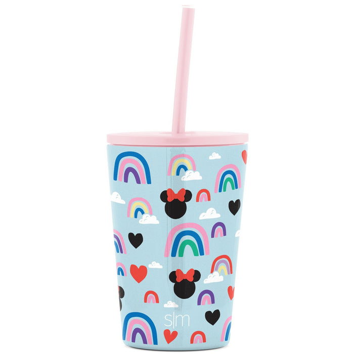 Disney Minnie Mouse Rainbow Classic Tumbler Disney Kids Classic Tumbler with Lid and Silicone Straw - 12oz