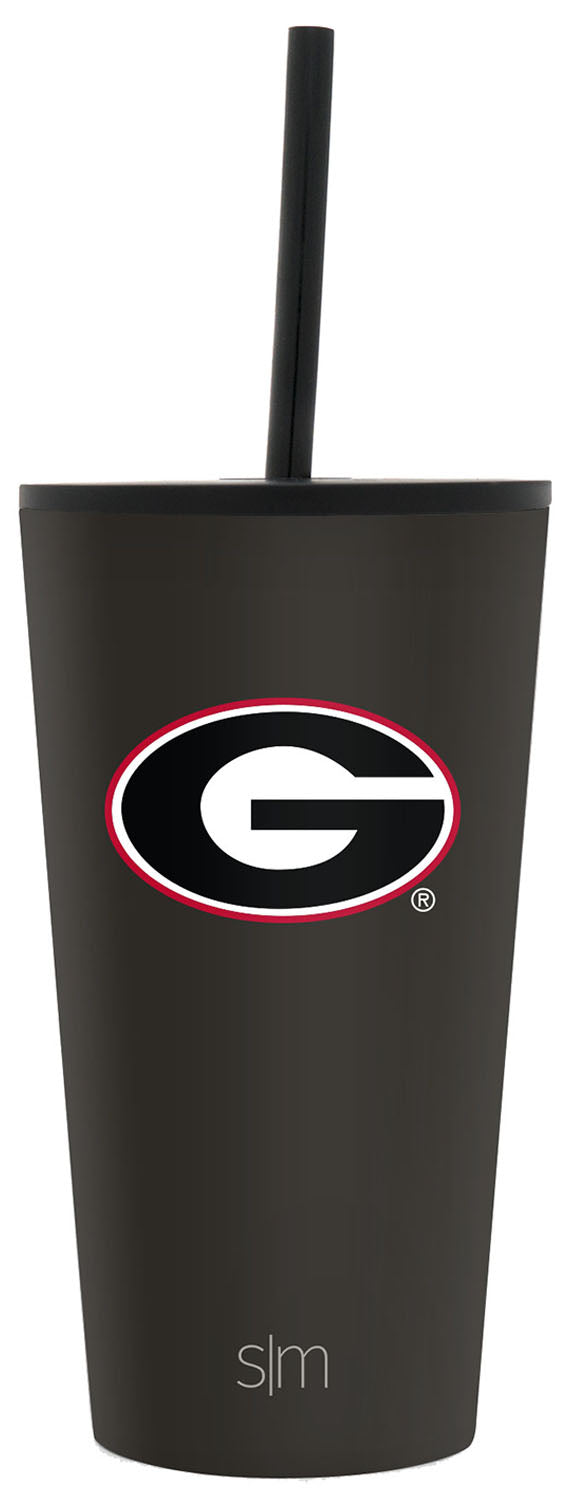 University of Georgia 16oz Classic Tumbler with Straw & Flip Lid