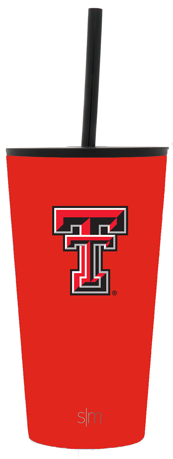Texas Tech University 16oz Classic Tumbler with Straw & Flip Lid